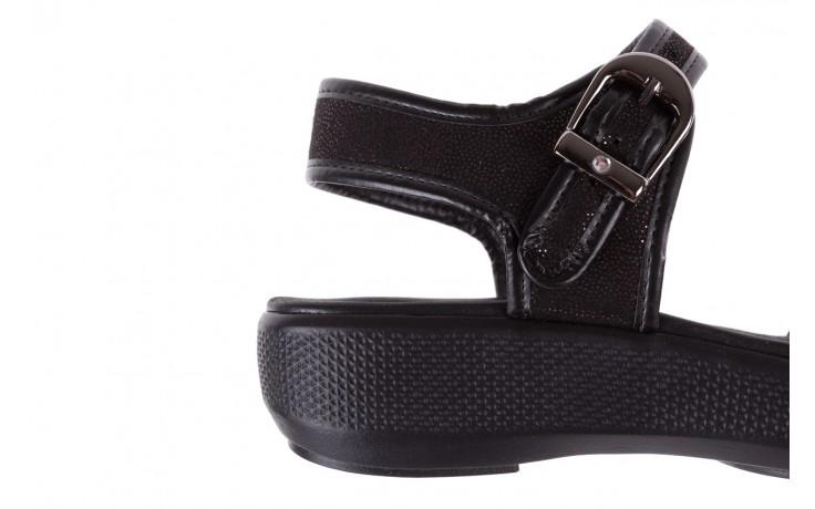 Sandały azaleia 355 789 point black, czarny, materiał - azaleia - nasze marki 6