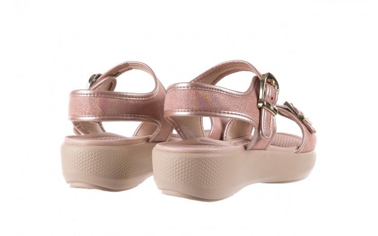 Sandały azaleia 355 789 point rose, róż, materiał  - sandały - letnie hity cenowe 3