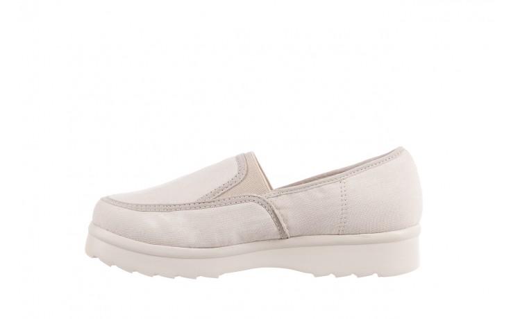 Półbuty azaleia 630 187 ivory, kremowy, materiał  - obuwie sportowe - dla niej - dodatkowe -10% 2