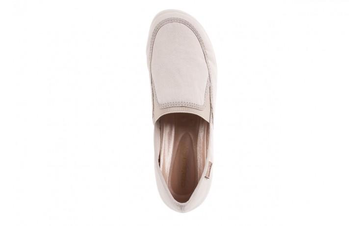 Półbuty azaleia 630 187 ivory, kremowy, materiał  - obuwie sportowe - dla niej - dodatkowe -10% 6