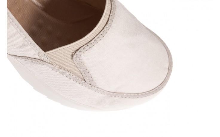 Półbuty azaleia 630 187 ivory, kremowy, materiał  - obuwie sportowe - dla niej - dodatkowe -10% 5