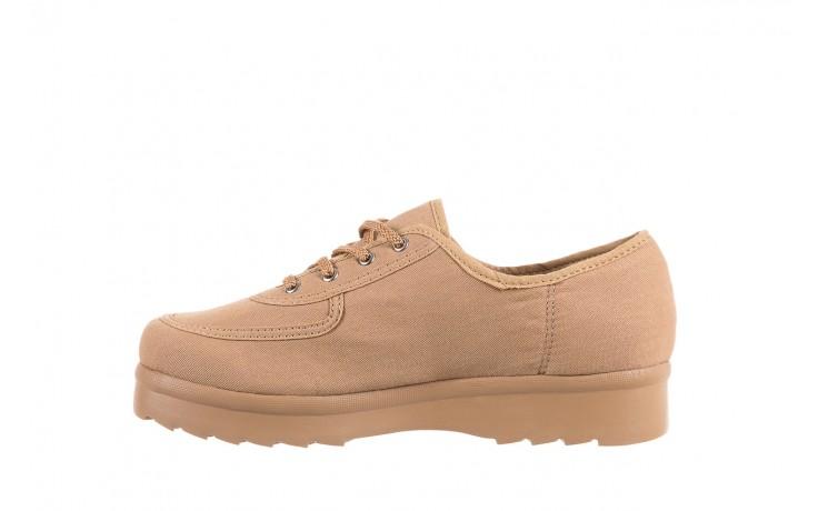 Półbuty azaleia 630 189 beige, beż, materiał  - sznurowane - półbuty - buty damskie - kobieta 2