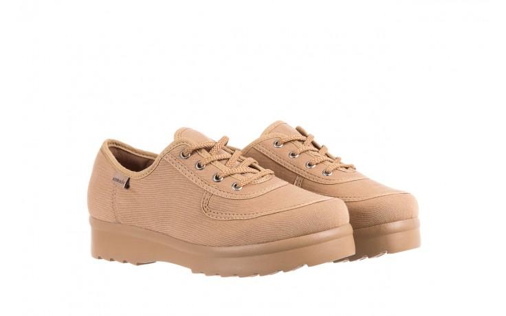 Półbuty azaleia 630 189 beige, beż, materiał  - sznurowane - półbuty - buty damskie - kobieta 1