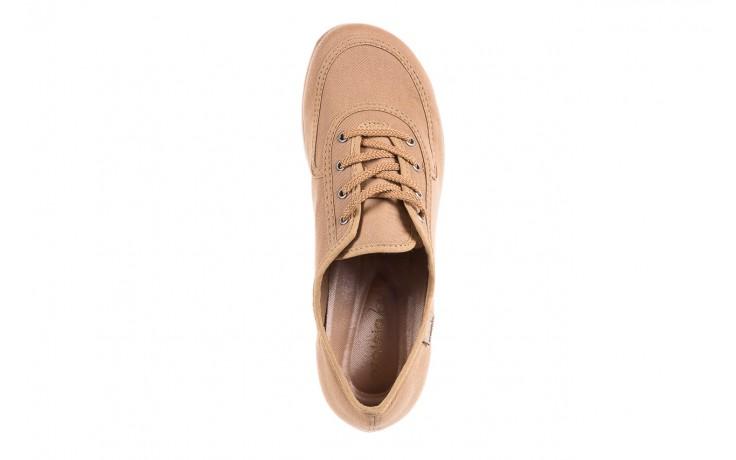 Półbuty azaleia 630 189 beige, beż, materiał  - sznurowane - półbuty - buty damskie - kobieta 6