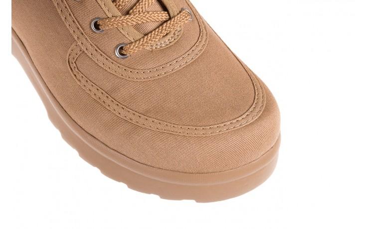 Półbuty azaleia 630 189 beige, beż, materiał  - sznurowane - półbuty - buty damskie - kobieta 5