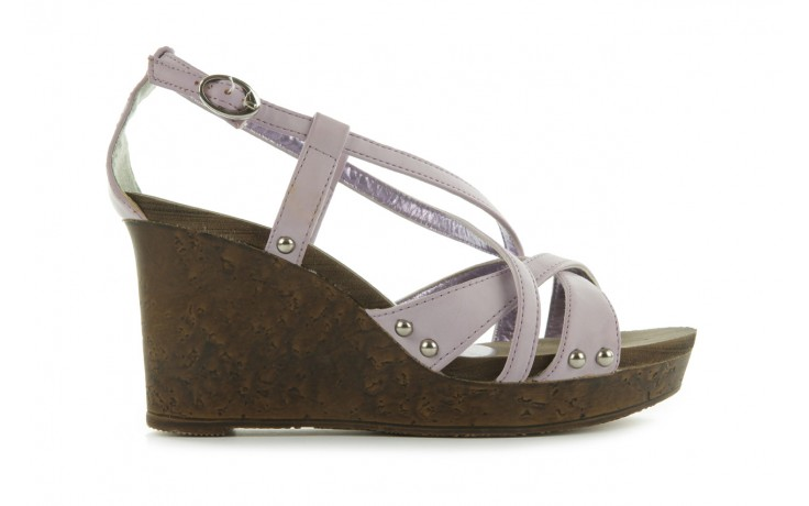 Sandały azaleia 633-love630 lilac, fiolet, skóra ekologiczna - dijean - nasze marki