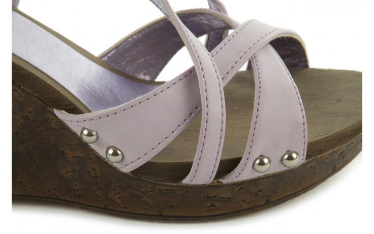 Sandały azaleia 633-love630 lilac, fiolet, skóra ekologiczna - dijean - nasze marki 5