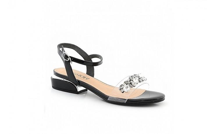 Sandały sca'viola b-123 black, czarny, skóra naturalna lakierowana/ silikon - sca`viola - nasze marki