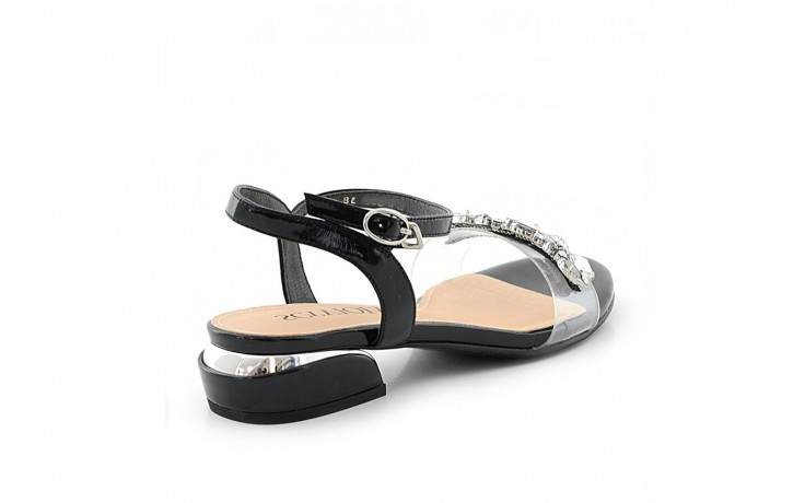 Sandały sca'viola b-123 black, czarny, skóra naturalna lakierowana/ silikon - sca`viola - nasze marki 1