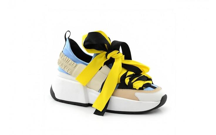 Sneakersy sca'viola e-17 l-blue, niebieski/ beż/ czarny, skóra naturalna  - sca`viola - nasze marki