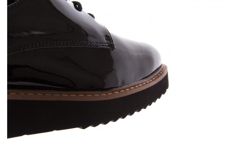Półbuty bayla-018 1133-x57 burgundy black, bordo/czarny, skóra naturalna lakierowana  - bayla - nasze marki 5