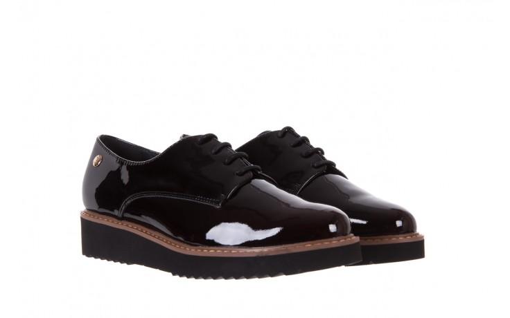 Półbuty bayla-018 1133-x57 burgundy black, bordo/czarny, skóra naturalna lakierowana  - bayla - nasze marki 1