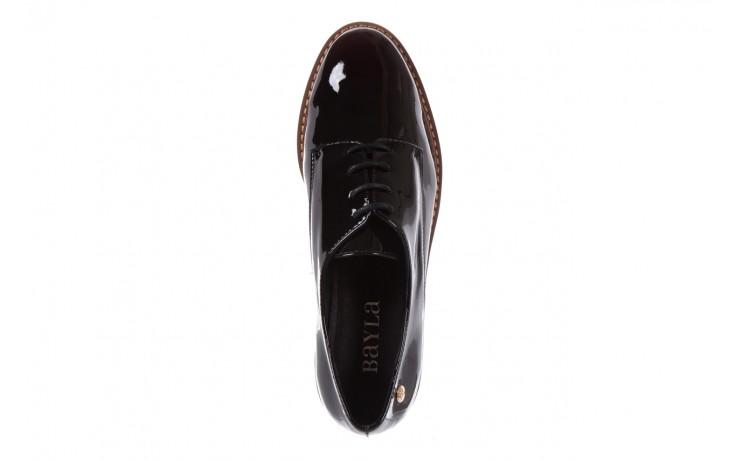 Półbuty bayla-018 1133-x57 burgundy black, bordo/czarny, skóra naturalna lakierowana  - bayla - nasze marki 4