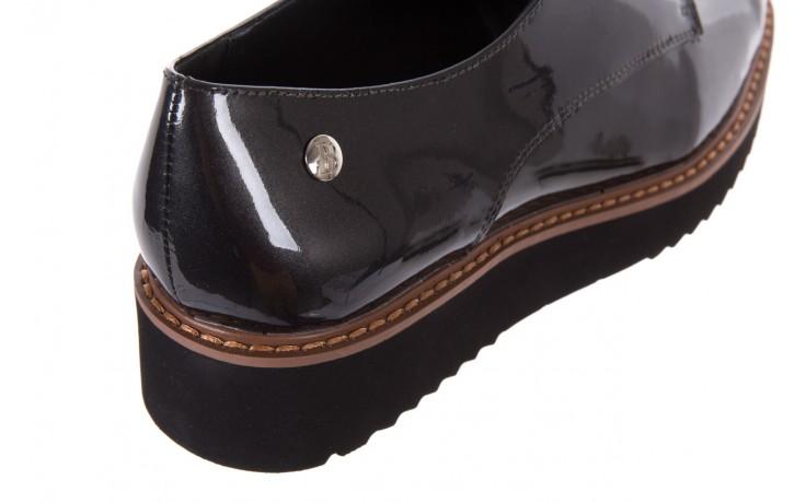 Półbuty bayla-018 1133-x57 grey black, szary/czarny, skóra naturalna lakierowana - bayla - nasze marki 5