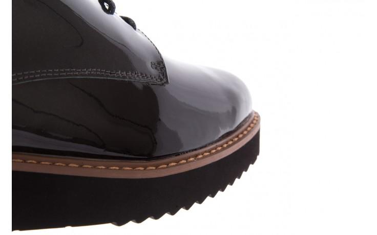 Półbuty bayla-018 1133-x57 grey black, szary/czarny, skóra naturalna lakierowana - bayla - nasze marki 6