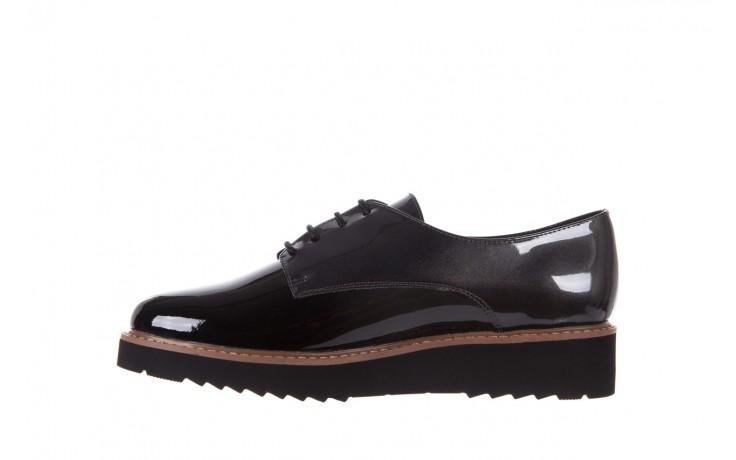 Półbuty bayla-018 1133-x57 grey black, szary/czarny, skóra naturalna lakierowana - bayla - nasze marki 2