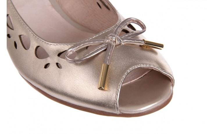 Czółenka bayla-018 1252-x3 champagne, beż, skóra naturalna - na koturnie - czółenka - buty damskie - kobieta 5