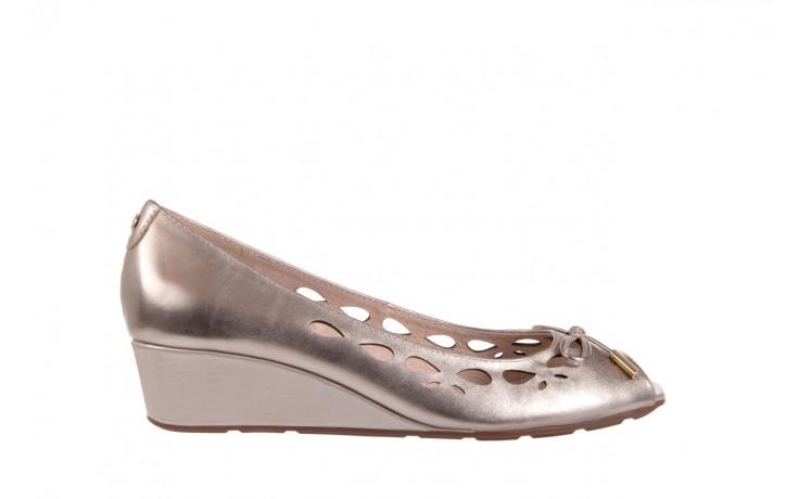Czółenka bayla-018 1252-x3 champagne, beż, skóra naturalna - na koturnie - czółenka - buty damskie - kobieta