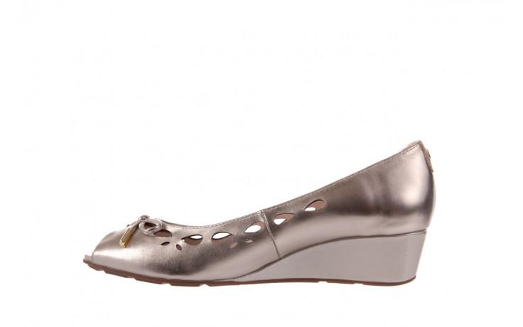 Czółenka bayla-018 1252-x3 champagne, beż, skóra naturalna - na koturnie - czółenka - buty damskie - kobieta 2