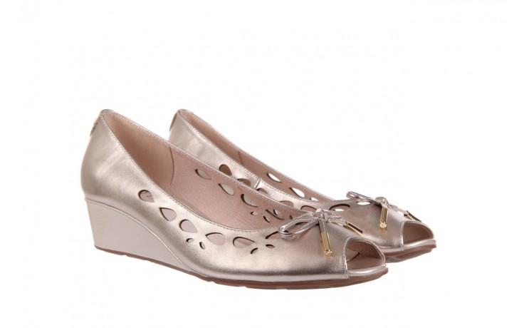 Czółenka bayla-018 1252-x3 champagne, beż, skóra naturalna - na koturnie - czółenka - buty damskie - kobieta 1