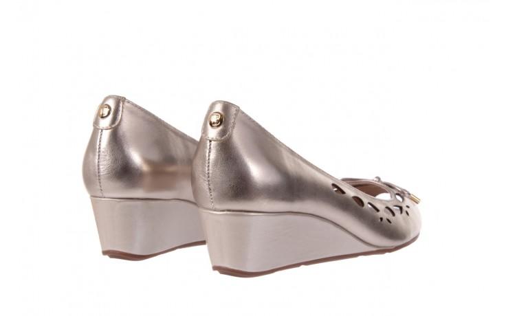 Czółenka bayla-018 1252-x3 champagne, beż, skóra naturalna - na koturnie - czółenka - buty damskie - kobieta 3