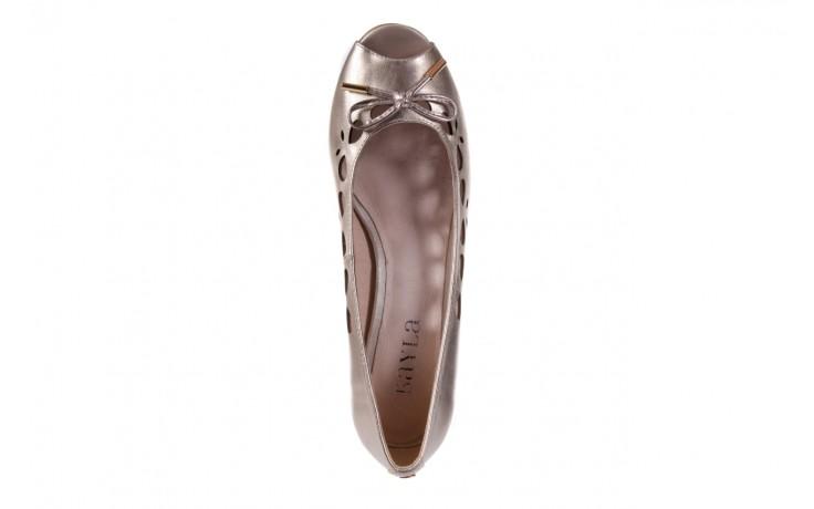 Czółenka bayla-018 1252-x3 champagne, beż, skóra naturalna - na koturnie - czółenka - buty damskie - kobieta 4