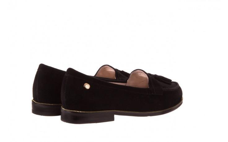 Lordsy bayla-018 1556-x7 black suede 71, czarny, skóra naturalna  - bayla - nasze marki 3