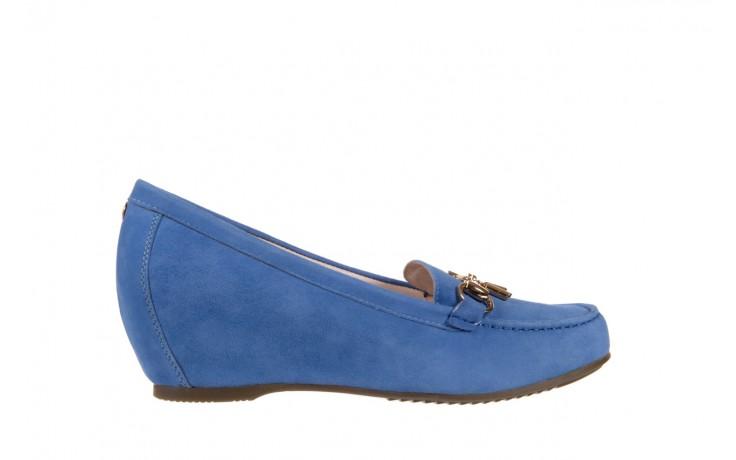 Mokasyny bayla-018 1647-12 royal blue, niebieski, skóra naturalna - bayla - nasze marki