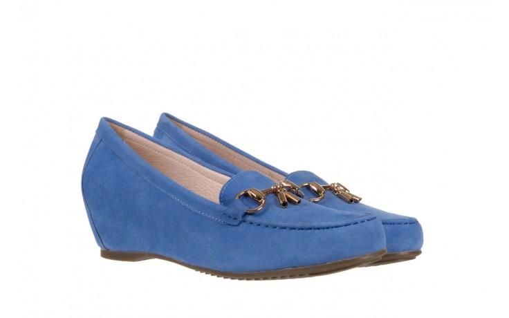 Mokasyny bayla-018 1647-12 royal blue, niebieski, skóra naturalna - bayla - nasze marki 1