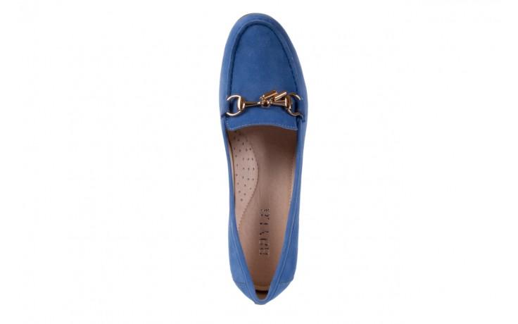 Mokasyny bayla-018 1647-12 royal blue, niebieski, skóra naturalna - bayla - nasze marki 4