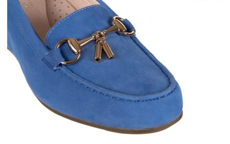 Mokasyny bayla-018 1647-12 royal blue, niebieski, skóra naturalna - bayla - nasze marki 5