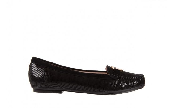 Mokasyny bayla-018 1677-5 black lizard black, czarny, skóra naturalna - bayla - nasze marki