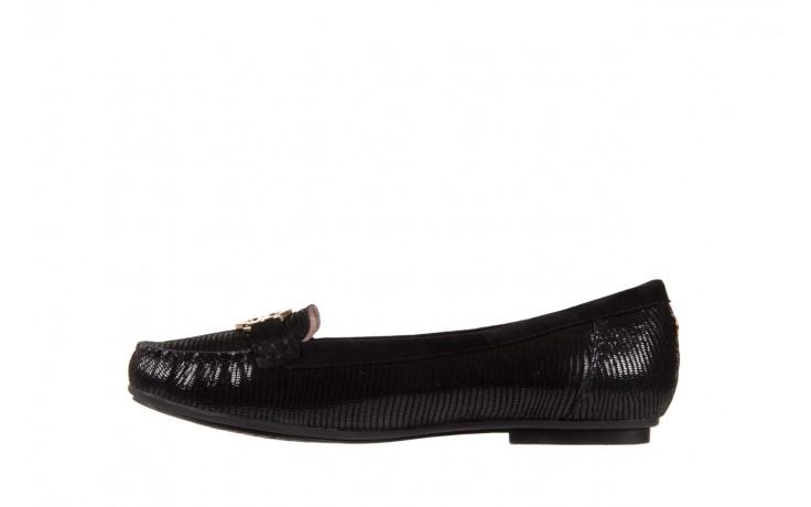 Mokasyny bayla-018 1677-5 black lizard black, czarny, skóra naturalna - bayla - nasze marki 2