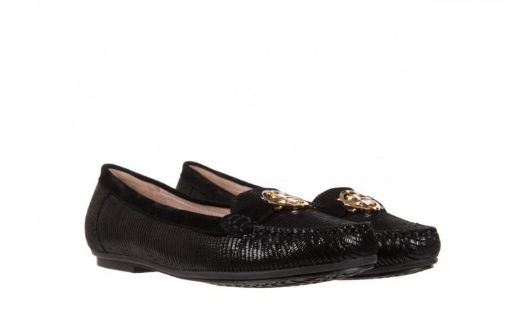 Mokasyny bayla-018 1677-5 black lizard black, czarny, skóra naturalna - bayla - nasze marki 1