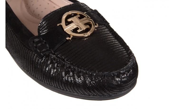 Mokasyny bayla-018 1677-5 black lizard black, czarny, skóra naturalna - bayla - nasze marki 5