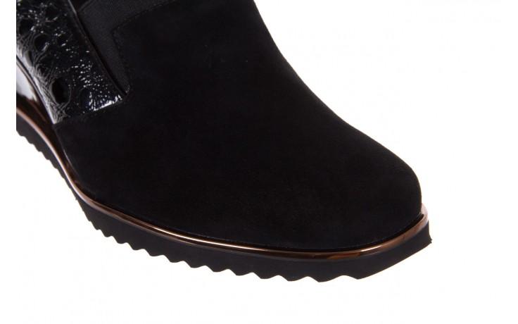 Półbuty bayla-018 1729-6 black, czarny, skóra naturalna lakierowana  - na koturnie - półbuty - buty damskie - kobieta 6