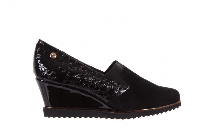 Półbuty bayla-018 1729-6 black, czarny, skóra naturalna lakierowana  - na koturnie - półbuty - buty damskie - kobieta