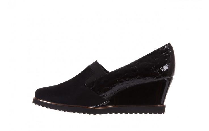 Półbuty bayla-018 1729-6 black, czarny, skóra naturalna lakierowana  - na koturnie - półbuty - buty damskie - kobieta 2