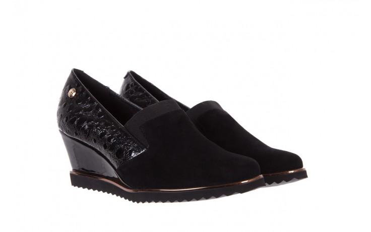Półbuty bayla-018 1729-6 black, czarny, skóra naturalna lakierowana  - na koturnie - półbuty - buty damskie - kobieta 1