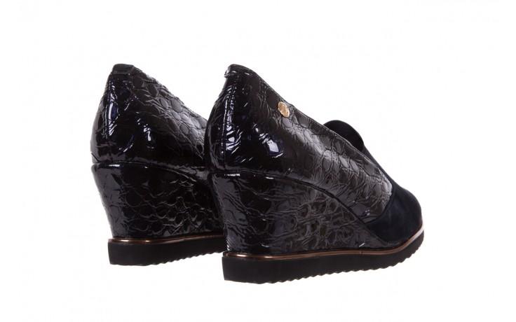 Półbuty bayla-018 1729-6 navy, granat, skóra naturalna lakierowana - na koturnie - półbuty - buty damskie - kobieta 3