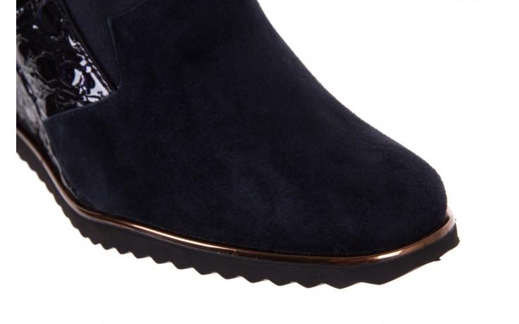Półbuty bayla-018 1729-6 navy, granat, skóra naturalna lakierowana - na koturnie - półbuty - buty damskie - kobieta 5