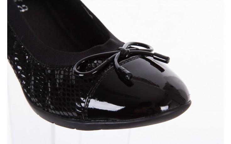 Baleriny bayla-018 1759-3 black, czarny, skóra naturalna - bayla - nasze marki 5
