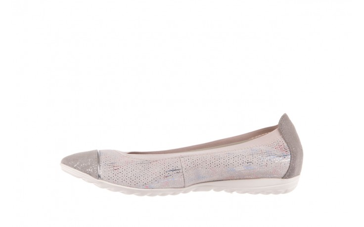 Baleriny bayla-018 1831-5 lt. grey off white silver 018534, biały/szary, skóra naturalna  - skórzane - baleriny - buty damskie - kobieta 2