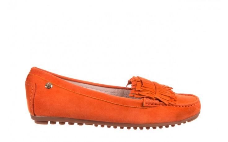 Mokasyny bayla-018 3173-331 orange 018539, pomarańczowy, skóra naturalna  - mokasyny i lordsy - półbuty - buty damskie - kobieta