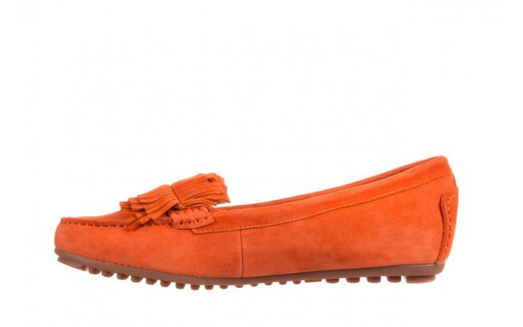 Mokasyny bayla-018 3173-331 orange 018539, pomarańczowy, skóra naturalna  - bayla - nasze marki 2