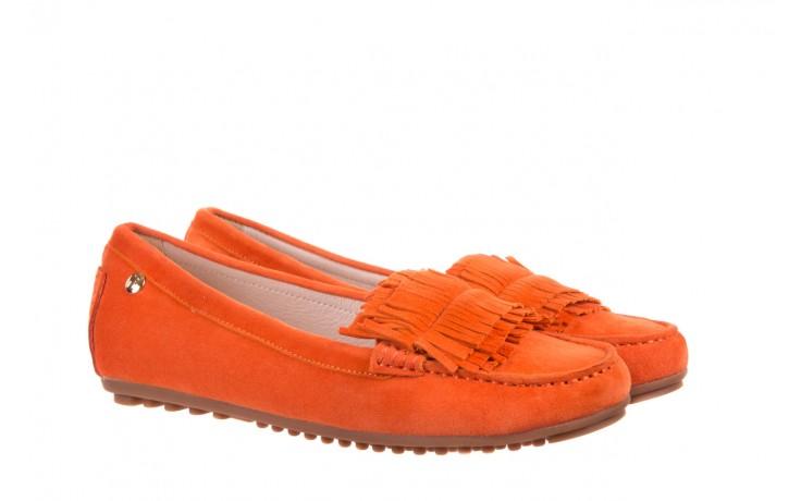 Mokasyny bayla-018 3173-331 orange 018539, pomarańczowy, skóra naturalna  - mokasyny i lordsy - półbuty - buty damskie - kobieta 1