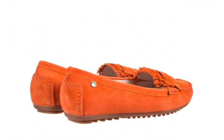 Mokasyny bayla-018 3173-331 orange 018539, pomarańczowy, skóra naturalna  - bayla - nasze marki 3