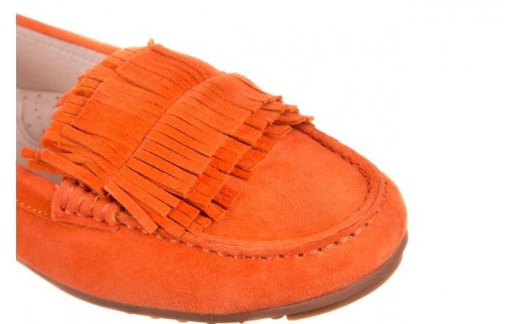 Mokasyny bayla-018 3173-331 orange 018539, pomarańczowy, skóra naturalna  - mokasyny i lordsy - półbuty - buty damskie - kobieta 4