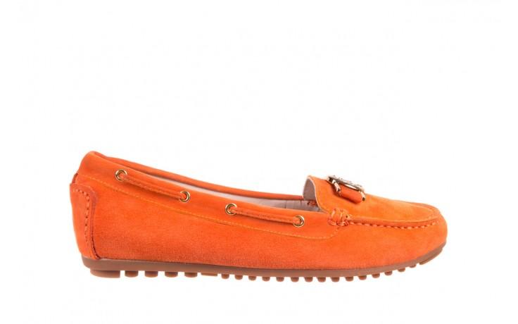 Mokasyny bayla-018 3173-335 orange 018544, pomarańczowy, skóra naturalna
