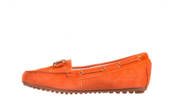Mokasyny bayla-018 3173-335 orange 018544, pomarańczowy, skóra naturalna 3